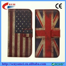National Flag Retro Case For iPhone 5 Wallet Case,For i Phone 5 5S
