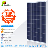 Powerwell Solar Top Supplier 156mm*156mm Solar Cells 150-160W PV Poly Solar Panels Module With CE/IEC/TUV/ISO