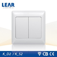 hot sell 15 years warranty chrome screwless switch