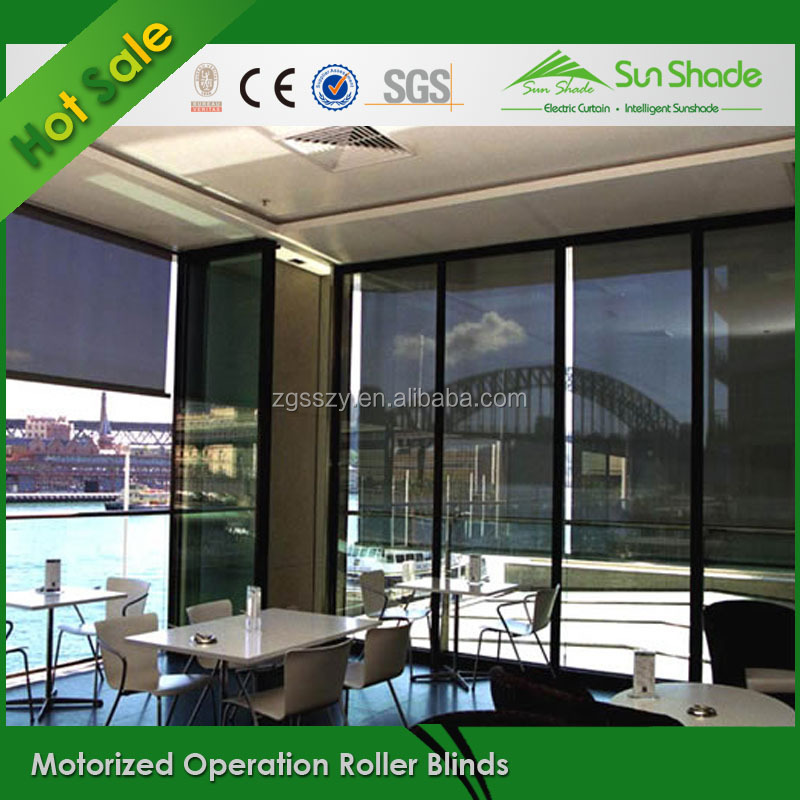 Remote control electric roller blinds system motorized Motorized window shades cost