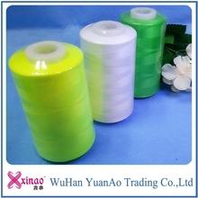 100%polyester spun sewing thread yarn 30s/3