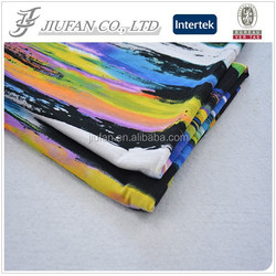 Jiufan Textile 2015 Hot Selling Iridescent OE 95% Viscose 5% Elastane Knit Fabric For Garment Sweater