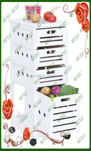 multi-purpose hot sale commercial wooden kitchen rack with drawer