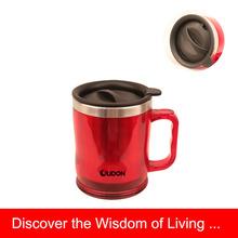 10oz double wall coffee mug plastic tumbler with handle