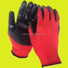 7 guage latex rubber palm coated safety work glove, garden glove