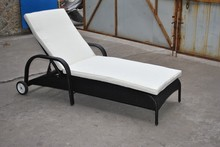 synthetic rattan sun lounger