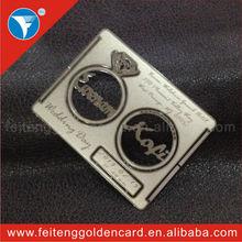 unique luxury laser cut metal wedding invitation card for arabic wedding favor
