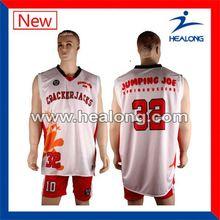 Healong Manufacturer Oversized Custom Youth Basketball Jersey
