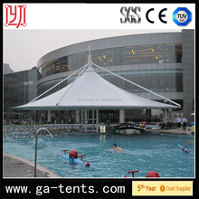 architecture layout,tensile membrane structure,PVDF tent