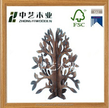 carving mini Xmas wood christmas tree, wooden christmas tree for holiday decorations factory direct