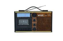 High Quality Classic Wooden USB SD Portable AM FM Cassette Radio