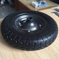 Flat free PU foam wheelbarrow wheel 3.50-7