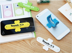 promotional gift low cost silicone cell phone holder with 3M sticker