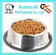 New Stainless Steel Non Skid Pet Slip Food Water Cat Dog Bowl
