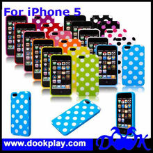 Cheap Cover For iPhone5 Polka Dot Cover Case