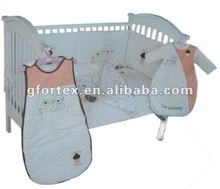 100% cotton lastes unisex lovely bunny baby bedding set