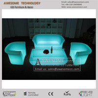 led glowing plastic sofa furniture wholesale
