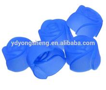 Forma de flor rosa de silicona para hornear tazas/cupcake liners moldes de color mezclado