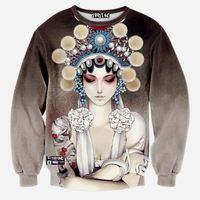 MSS304 floral printed raglan sleeve sweatshirt 3D Mother of God printed scuba fleece tide man sweatshirts