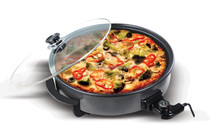 Electric Multifunction Pizza / Skillet with full glass lid with adjustable thermostat /electric grill