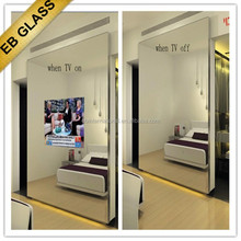 wall mounted TV mirror, Flat Screen TV Behind Mirror EB GLASS BRAND