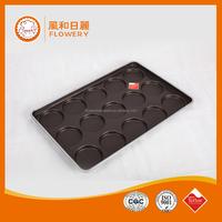 Aluminum manufacturer tableware non-stick teflon coating hamburger roll tray hot dog tray