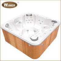 Outdoor indoor acrylic whirlpool free standing balboa bathtub hot tubs spas bath tub with sex massage
