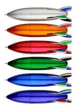 promotional gift wholesale rocket shaped plastic ball pen
