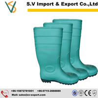 Gold Suppier safety PVC rain boots for construction