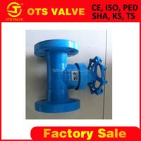 Bv-SY-478 High quality 2 inch non- rising stem gate valve with yoke RF flange DIN Standard
