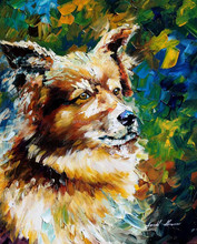 2015 newest high quality handmade palette knife oil painting of animal for sale 44357