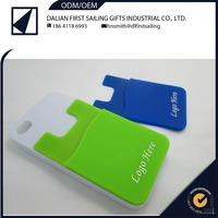 Spandex smart wallet for mobile phones. 3M adhesive sticks, card holder for cellphone.spandex wallet for