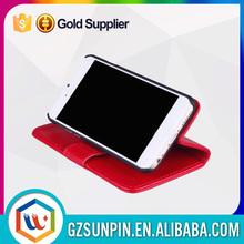 custom fur leather right open bulk magnetic portfolio wallet case for iphone 5