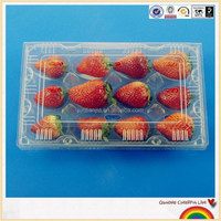 Clear 12 strawberries plastic storage container