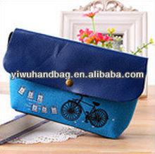 blue color pencil carry bag