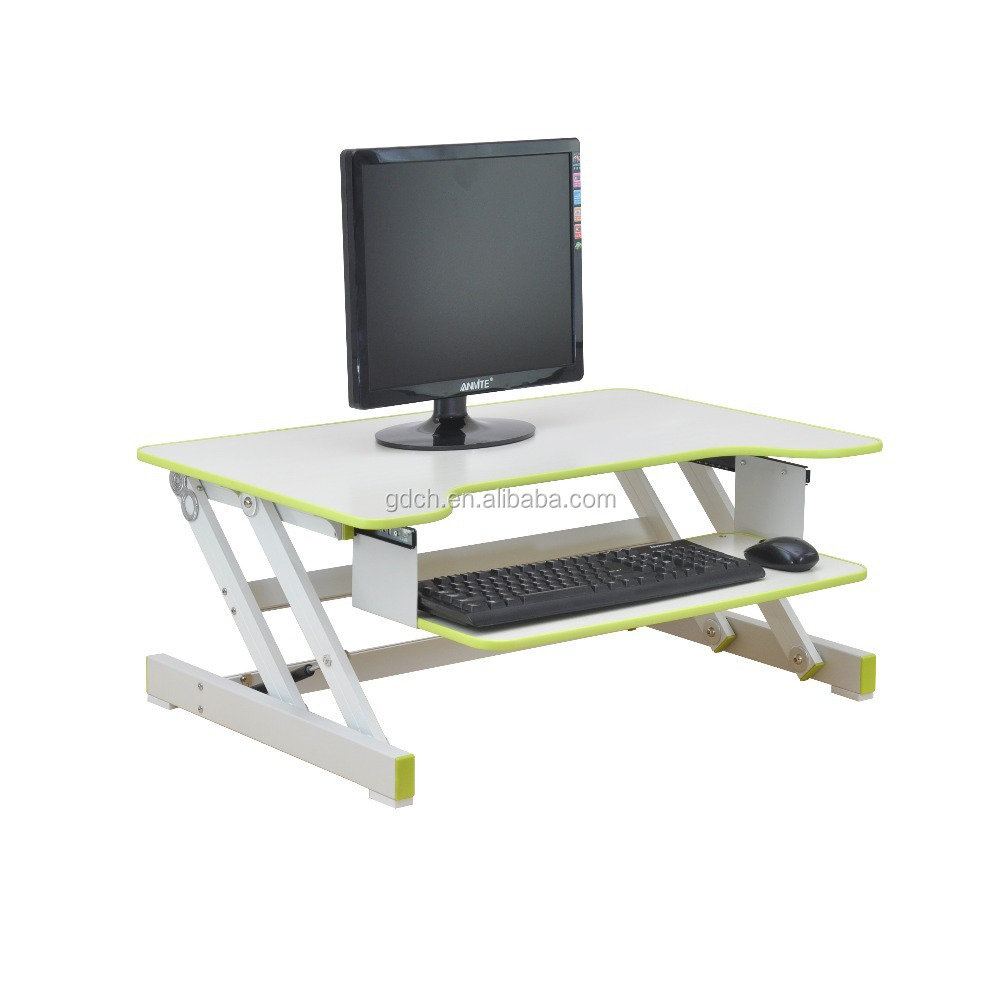 Wooden stand up desk computer standing desk portable laptop computer