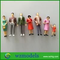 Plastic People Figure Action Figure Toy Diy Model 1/30 Scale Painted Human Figure