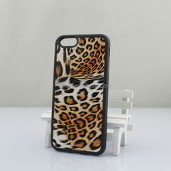 Hot Sale Leopard Coating Surface Soft Silicon Skin Cover Case For iphone 6/6plus