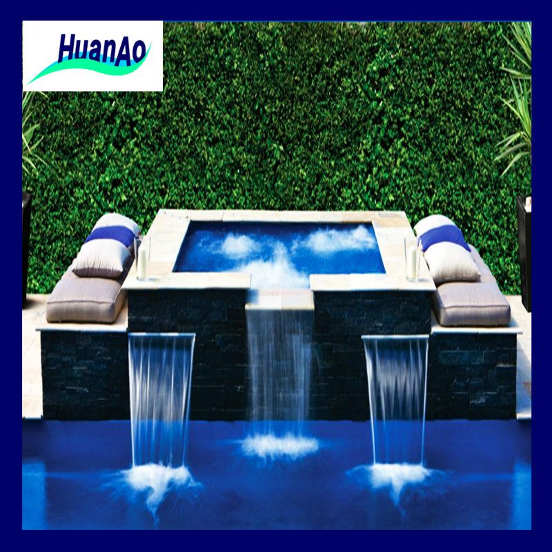 Cascacascada fuente de agua cascada artificial piscina for Aspersores de agua para jardin