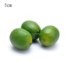 50mm mini Polystyrene foam artificial green lemon fake home festival decoration fruit and children DIY