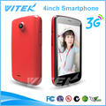 Nuevo Producto MTK 6572 4 Pulgadas Doble Núcleo Android Teléfonos Celulares Doble Simcard Pequeñas