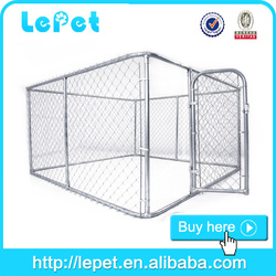 10x10x6 foot classic galvanized outdoor kennel for dog/cheap dog fence/dog house factory