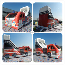 2015 new design fire truck inflatable bounce house