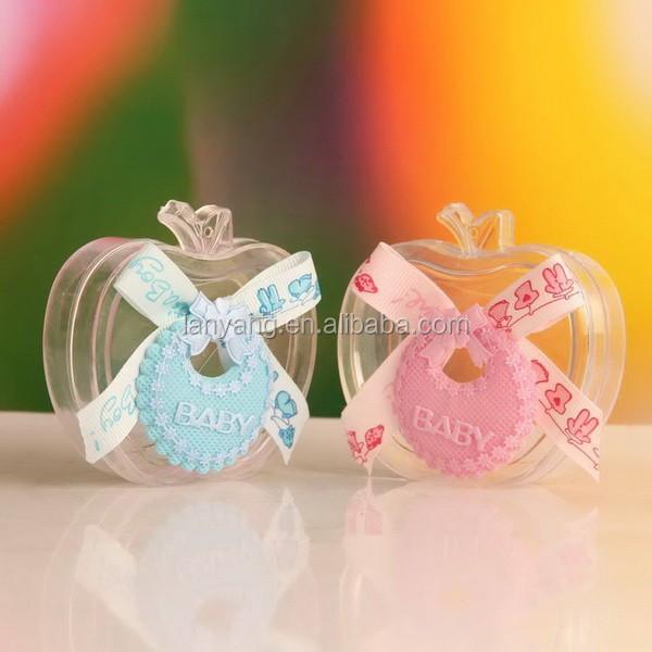 apple baby shower favor box candy bottle pvc