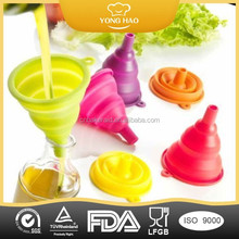 silicone collapsible folding funnel silicone folding funnel for kitchen tools