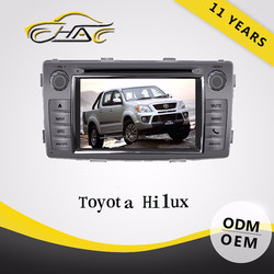 OEM ODM 7 inch 2 Din Touch Screen Car DVD For Hilux Toyota With Camera/Bluetooth
