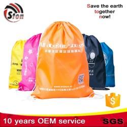 polyester nylon drawstring bag, cotton canvas drawstring bag, commercial hotel and travelling drawstring laundry bag