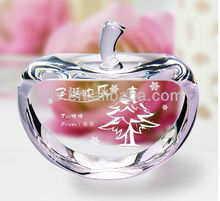 crystal laser clear apple lovely fruit Christmas colorful apples