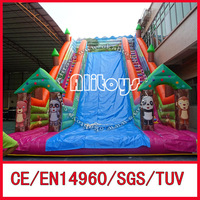 Hot!! commercial inflatable dry slide for kids