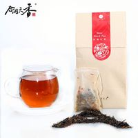 Chinese black teabag with beautiful rose flower